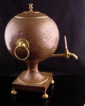 Antique Samovar - 1800's teapot - steampunk design - Russian Copper kettle with  image 3
