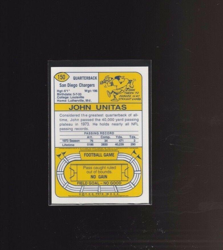 2000 Topps - Johnny Unitas Reprints - Chrome #R18 Johnny Unitas