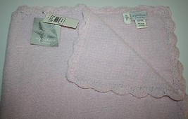 """Little Me Girls Pink Chenille Baby Blanket Plush Soft Security 30"""" Signature - $44.48"""