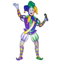Jointed Jester Cutout Mardi Gras Decoration Cut Out - $17.37 CAD