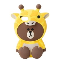 LINE Friends Giraffe BROWN Silicone Case iPhone 7 / 7 Plus Cover Mobile ... - $40.19+