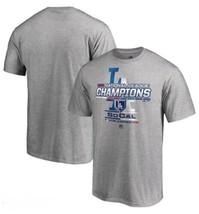 LA Los Angeles Dodgers Youth Boys M (10/12) T-shirt Baseball MLB Tee NWT Gray - $11.88