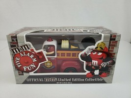 M&M's Five Alarm Fun Red Fire Engine Candy Dispenser Limited Edition Col... - $45.00