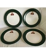 "Sakura Holiday Abundance Lot of (4) Green Dinner Plates, 10 3/4"" Hallmar... - $34.64"
