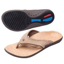 Yumi Men's Sandals pair Straw / Java / Cork Size 9 - $38.21