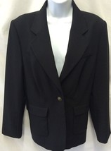 CAbi #725 Blazer Black Career Split Collar Lined Jacket Single Button 12 - $29.02