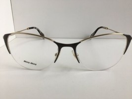 New Miu Miu  VMU 50O UBQ-101 53mm Gray Gold Cats Eye Women Eyeglasses Frame - $249.99