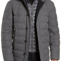 Cole Haan Down Filled Quilted Jacket Gray M NEW - $262.33