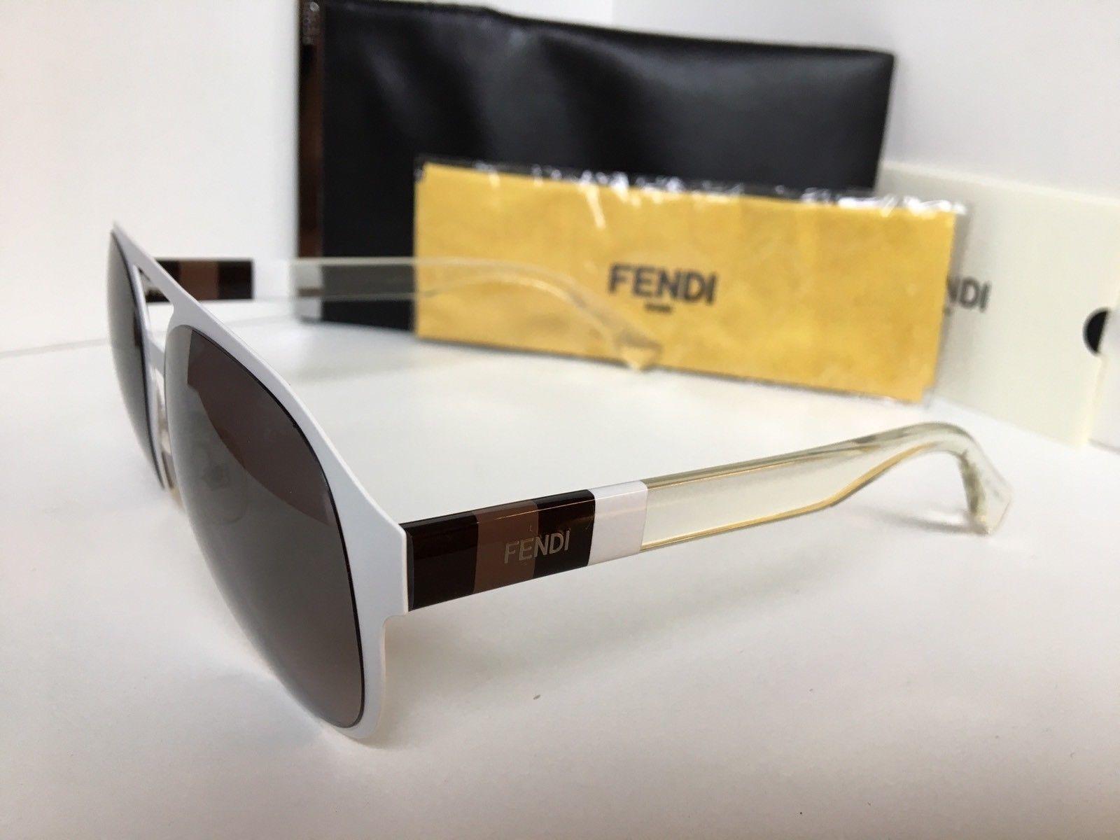 86e090b8b05 New FENDI FF 0082 S E2OEU 55mm White Clear Designer Women s Sunglasses Italy