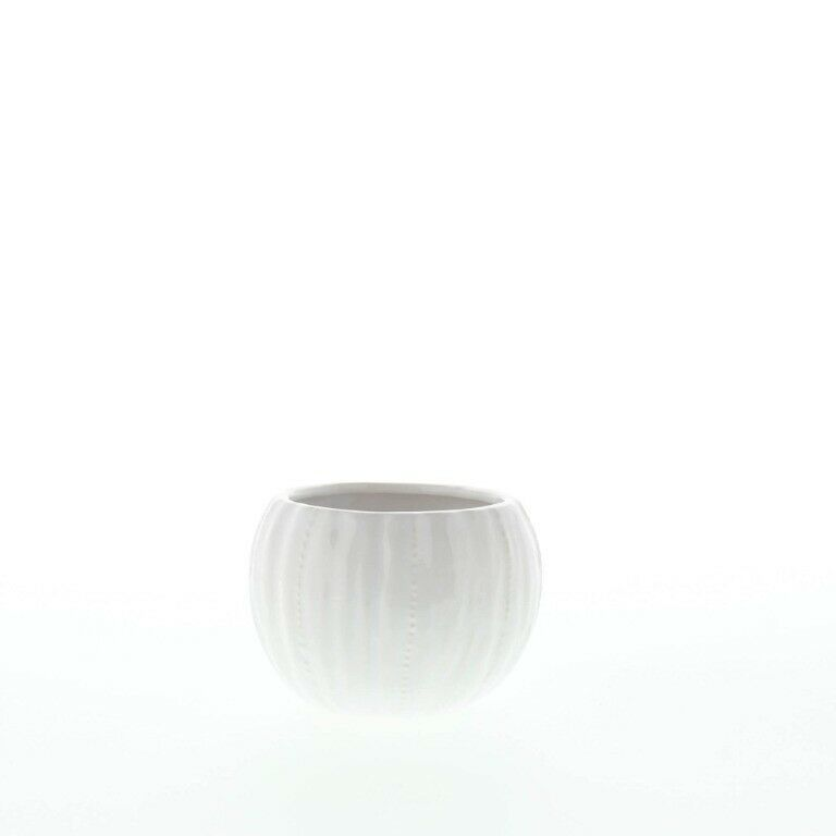 Set of 2 Chic Pure White Textured Ceramic Round Votive Candle Holders image 7