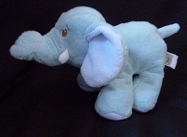 Baby GANZ  Blue  Elephant Rattle Stuffed Plush animal Lovey - $12.69