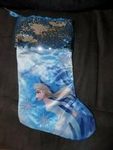 Disney Frozen 2 Elsa  Christmas sequins Top Stocking NEW - $22.50