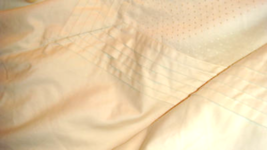 Charisma King Swiss Dot Pleated Ivory Luxury Duvet Cover High End 100% Cotton - $99.97