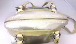 Coach Poppy ~ Pearl Opal Sequins Large Highlight Bag Tote ~ Patent Leather Trim image 3