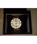 BRAND NEW w/Box AUGUSTE JACCARD MENS WATCH Brown LEATHER BAND! Classic Look - $31.06