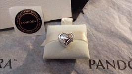 Pandora Heart RIBBON of LOVE 925 ALE Sterling Silver Charm Bead w/ extras - $34.64
