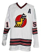 Custom Name # Michigan Stags Retro Hockey Jersey New White Curtis 15 Any Size image 3