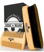 Beard Brush Comb Set for Men Care - Gift Box Friendly Bag - Best Bamboo ... - $12.51