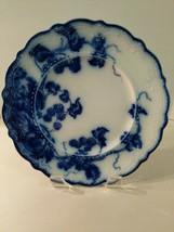 "Vintage Kenworth Johnson Bros England Flow Blue 8"" Scalloped Edge Plate - $34.60"