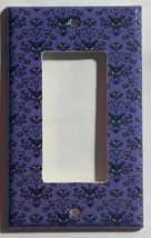 Haunted Mansion purple wallpaper Light Switch Outlet wall Cover Plate Home Decor image 5