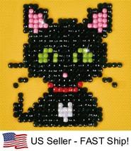 Diamond Dotz Cat Green Eye Sparkle 5D Diamond Painting Embroidery Facet Kit - $4.45