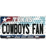 Cowboys Texas State Background Metal License Plate Tag (Cowboys Fan) - $11.95