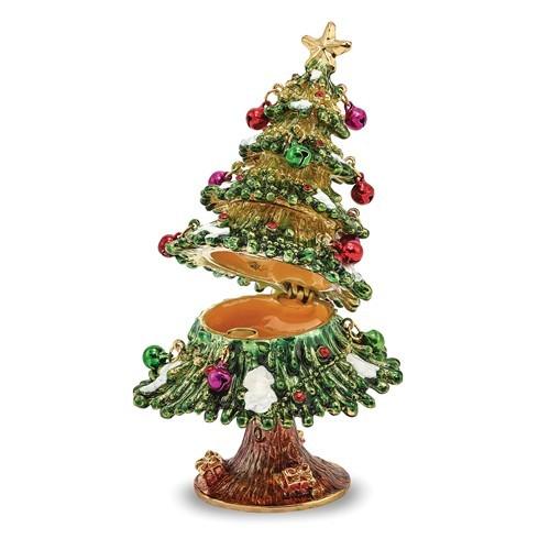 Bejeweled Christmas Tree Trinket Box
