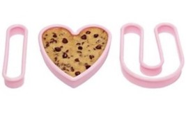 Avon Valentine's Day I Love  You Oversized 3pc Plastic Cookie Cutter Set - $14.84