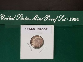 1994~S 10c ROOSEVELT DIME PROOF CLAD U.S. COIN FROM MY CHOICE PROOF SET ... - $5.89