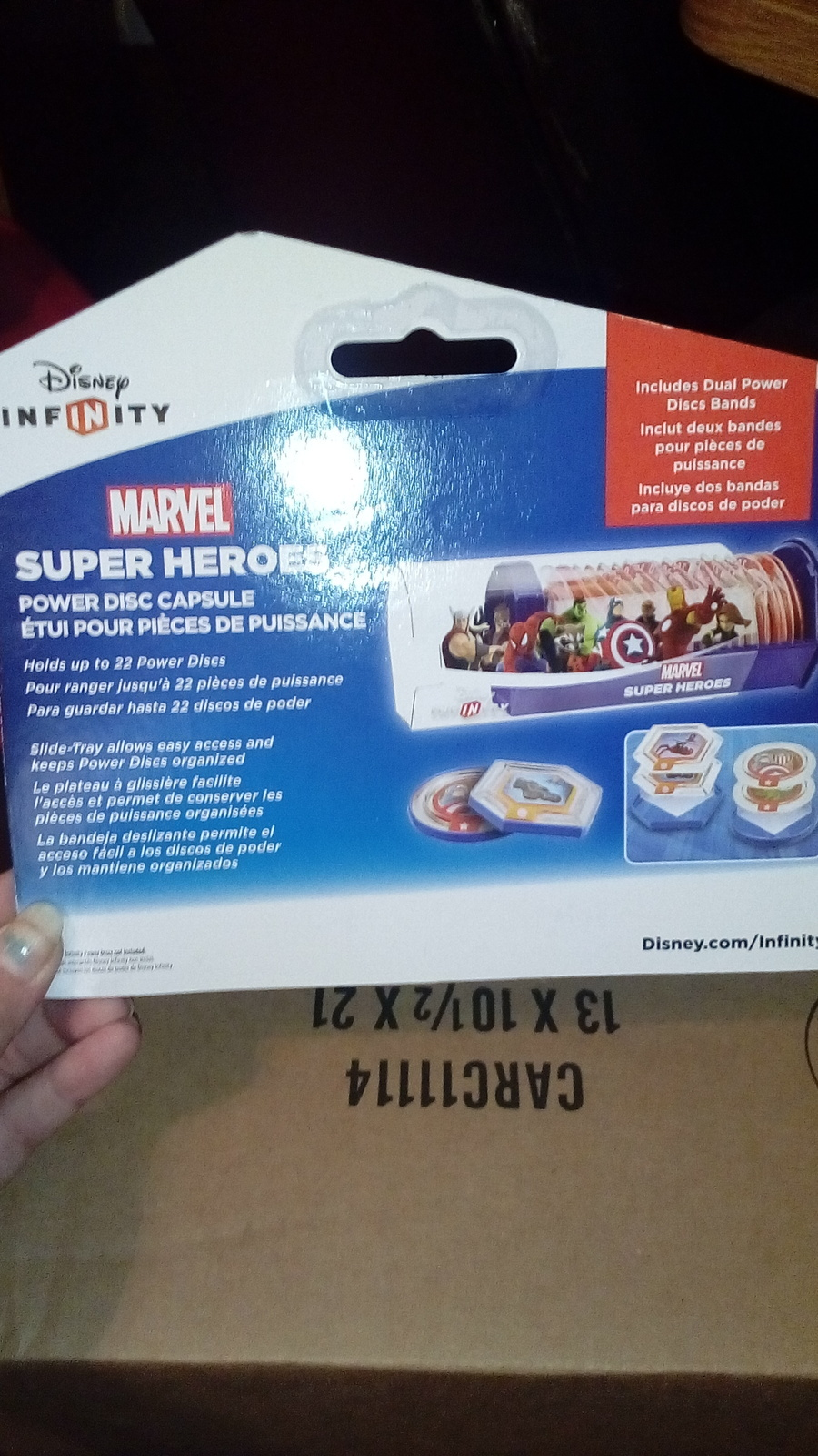 Disney infinity uper Heroes MARVEL power disc capsule JVC137