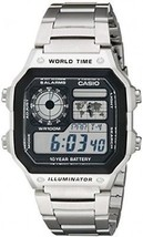 Casio Men's AE1200WHD-1A Stainless Steel Digital Watch - $59.58