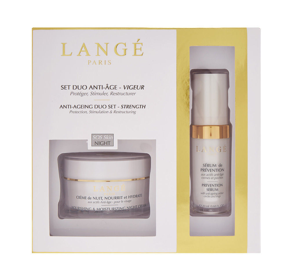 LANGÉ PARIS Anti-Ageing Duo Set Strength SOS Skin Night BNIB