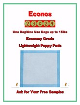"""200-23x24"""" CHEAP Economy Lightweight Puppy Training Wee Wee, Piss Pads - $29.50"""
