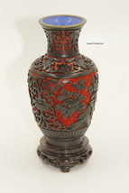 Black and Red Lacquer Vase - $30.00
