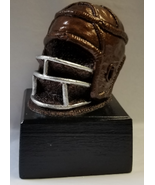 Old Tyme Football Helmet Antique Bronze  Handmade Sculpture 100% MADE IN... - $74.24