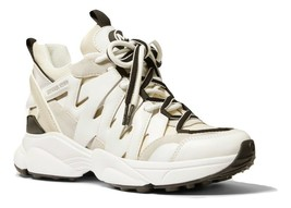 MICHAEL MICHAEL KORS Hero Mixed-Media Trainer Fashion Sneakers Size 5 - $118.79