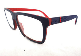 GUCCI Men's Frame Glasses GG1123/F M54 Blue/Red 56-16-145 MADE IN ITALY ... - $235.00