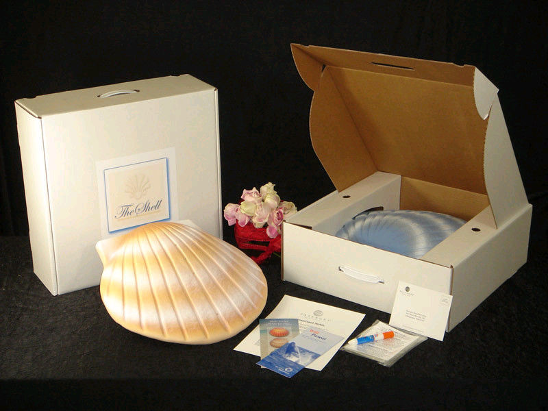 Biodegradable Aqua Shell Adult/Companion Funeral Cremation Urn, 400 Cubic Inches