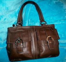 COACH Soho 6468 Brown Leather Large Shoulder Bag  - $58.00