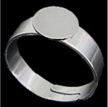 6pc platinum look ring shanks-866 - $1.00