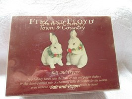 Fitz and Floyd Town & Country 2007 Holiday Hares salt & peppers, new - $20.00