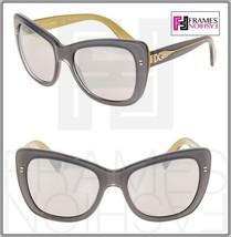 Dolce & Gabbana 4260 Square Grey Gold Silver Mirrored Sunglasses DG4260 Women - $177.31
