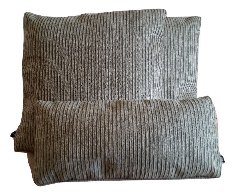 3 Pillow Covers Kid & Pet Friendly Holly Hunt Breakers Stripe in Chocolate - B2
