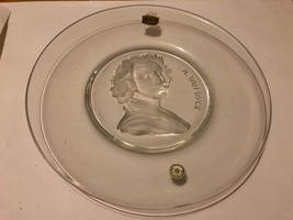 Val St. Lambert Old Masters A Van Dyck Belgium Crystal Plate - $14.80