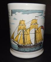 Cutter Ship Boat Stein Mug Yellow Di Burina Con Tytte Le Vele Scuner Fra... - $29.69