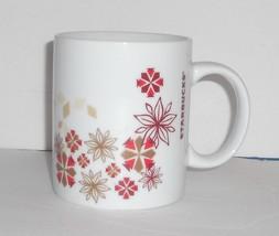 Starbucks 2013 Holiday Floral Winter Snowflake Christmas Barista Coffee Mug 12oz - $13.32
