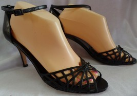Kate Spade Black Leather Heels Size 9 Made In Italy - $69.29