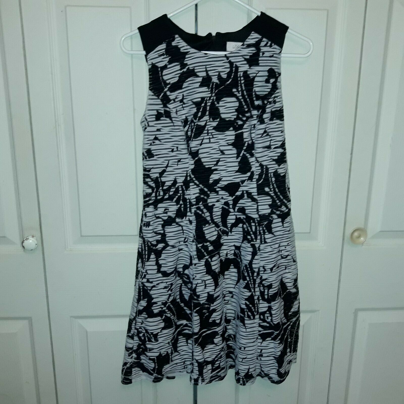 Women's Ann Taylor Loft Factory Shift Dress Size 2 Black/White