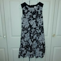 Women's Ann Taylor Loft Factory Shift Dress Size 2 Black/White - $18.70