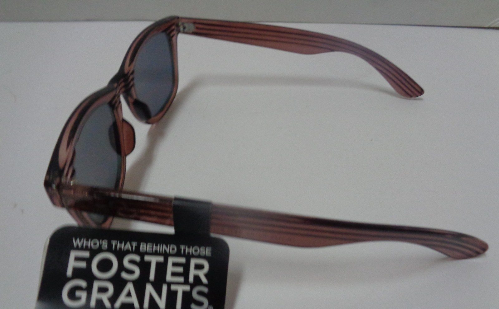 Foster Grant Sunglasses Wood Design Frame Mirrored NWT 100% UVA UVB Protection image 3